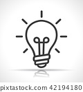 icon, bulb, light 42194180