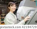 Factory People Working Machining 42194729