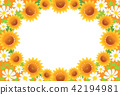 frame, sunflower, sunflowers 42194981