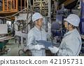 공장 인물 일하는 사람들 주물 42195731