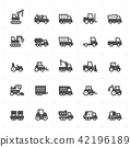 construction and machine filled Icon set 42196189