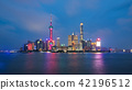 Shanghai city skyline Pudong side. 42196512