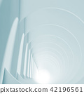 Abstract blue tunnel with glowing end, 3 d 42196561