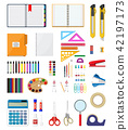 vector, stationery, pen 42197173