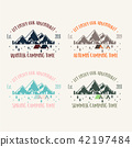 Set of retro vintage camp labels and logo graphics 42197484