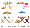 picnic table dining 42198194