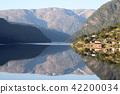 fjord, hardangerfjord, blue 42200034