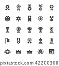 trophy and awards filled Icon set 42200308