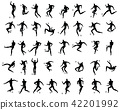 soccer or football players set silhouette 42201992