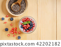 chia seed pudding with fresh fruits 42202182