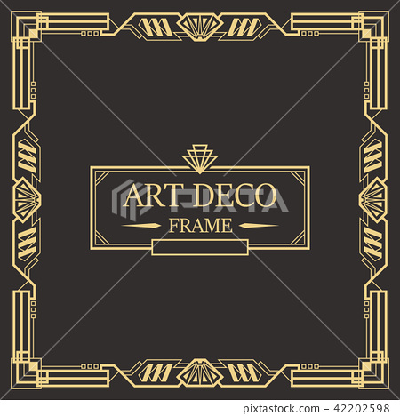 Art Deco Border frame vector 06 42202598