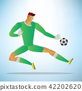Illustration of football goalkeeper player 42202620