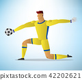 Illustration of football goalkeeper player 42202621