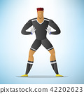 Illustration of football goalkeeper player 42202623