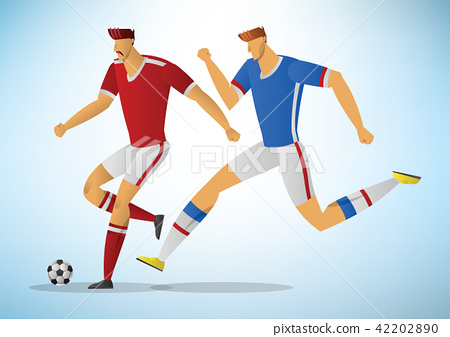 Illustration of soccer players 01 42202890