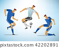 Illustration of soccer players 02 42202891