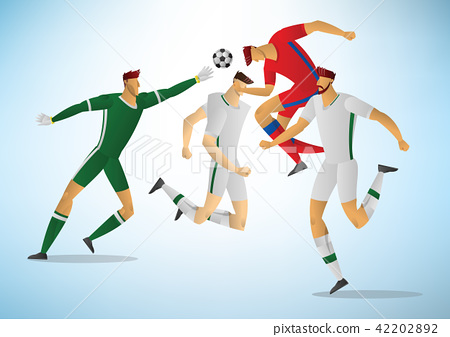 Illustration of soccer players 03 42202892