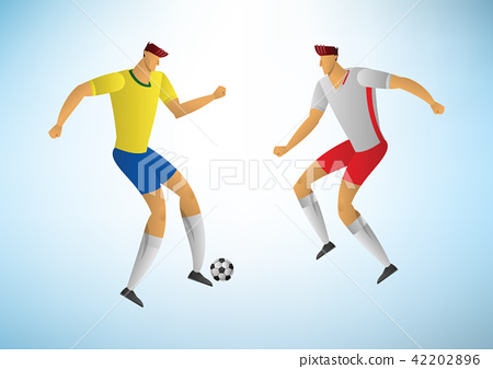 Illustration of soccer players 06 42202896