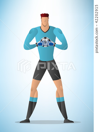 Illustration of football goalkeeper player 01 42202915