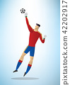 Illustration of football goalkeeper player 03 42202917
