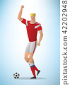 Illustration of football player 01 42202948