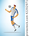 Illustration of football player 18 42202971