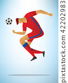Illustration of football player 28 42202983
