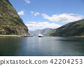 fjord, hardangerfjord, blue 42204253