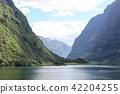 fjord, hardangerfjord, blue 42204255