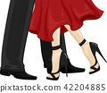 Feet Couple Dance Ballroom Illustration 42204885