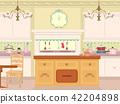 Interior Victorian Kitchen Illustration 42204898