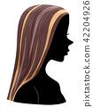Silhouette Girl Highlights Hair Illustration 42204926