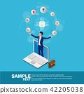 Isometric businessman  42205038
