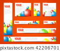 set of  web banners with balloons 42206701