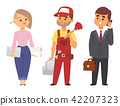 People different professions vector illustration. Success teamwork diversity human work lifestyle 42207323