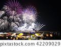 불꽃 놀이 대회, 불꽃 놀이, 여름 축제 42209029
