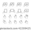 Gesture icon set 42209425