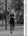 park, sport, runner 42209611