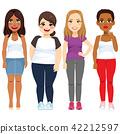 Diverse Standing Woman 42212597
