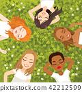 Multiracial Women Resting 42212599