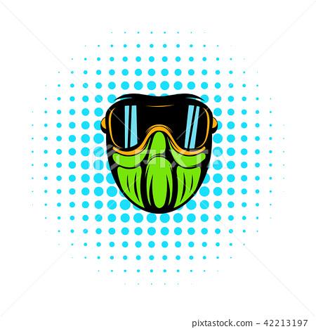 Protective mask comics icon  42213197