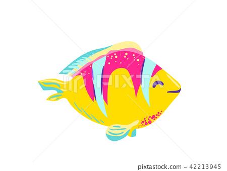 Cute fish clown cartoon vector 42213945