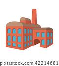 Factory building cartoon icon 42214681