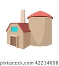 Factory building cartoon icon 42214698