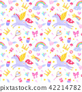 Cute seamless pattern 42214782