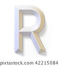 letter, r, dimensional 42215084