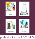 Vertical set with fine art cards templates.  42215474