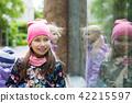 child, cap, girl 42215597