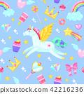 Cute seamless pattern 42216236