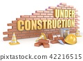 3d, construction, sign 42216515
